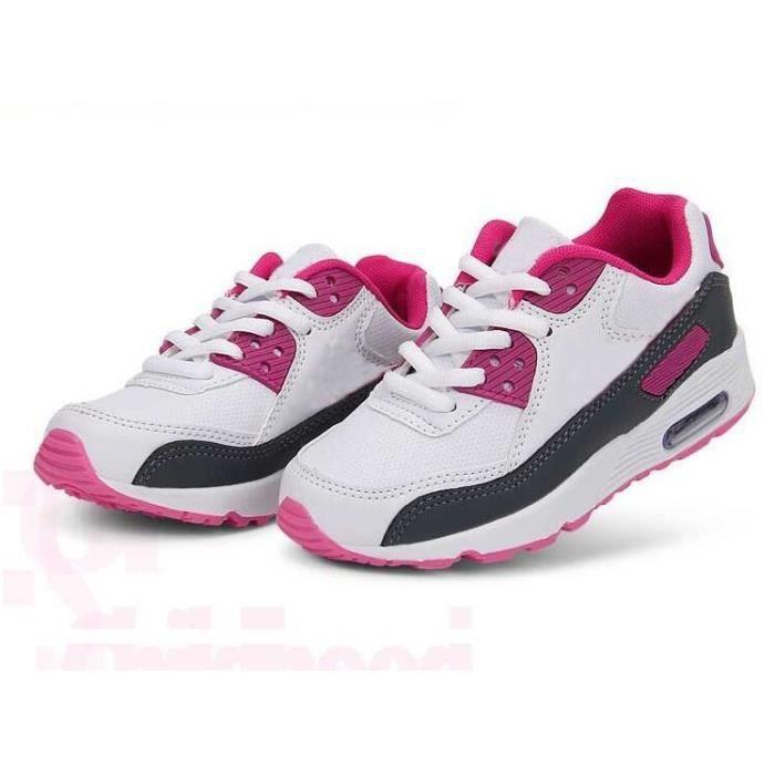 Basket légère simple basket mode ball Chaussure de mulitsport garçon fille maille respirant confortable taille 25-39 q98iMgvYhy