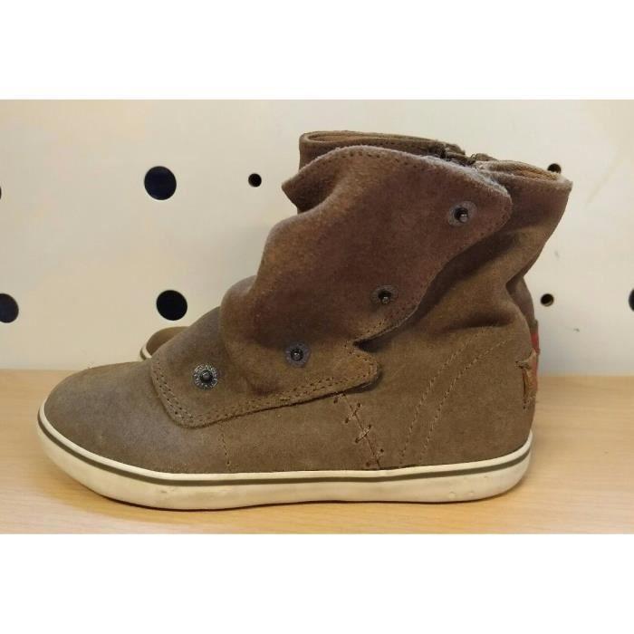 fa8ef68630a237 Chaussures Enfant - Marque Levis - Bottines Fille - Marron - T30 ...
