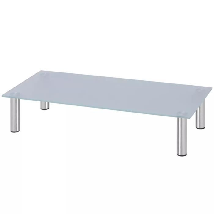 FIXATION - SUPPORT TV Support TV 80 x 35 x 17 cm verre blanc SUPPORT MUR