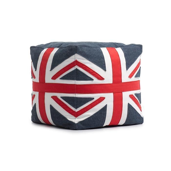 LONDON Pouf à Billes Coloris Drapeau Anglais Achat Vente Pouf Extraordinary Pouf En Anglais