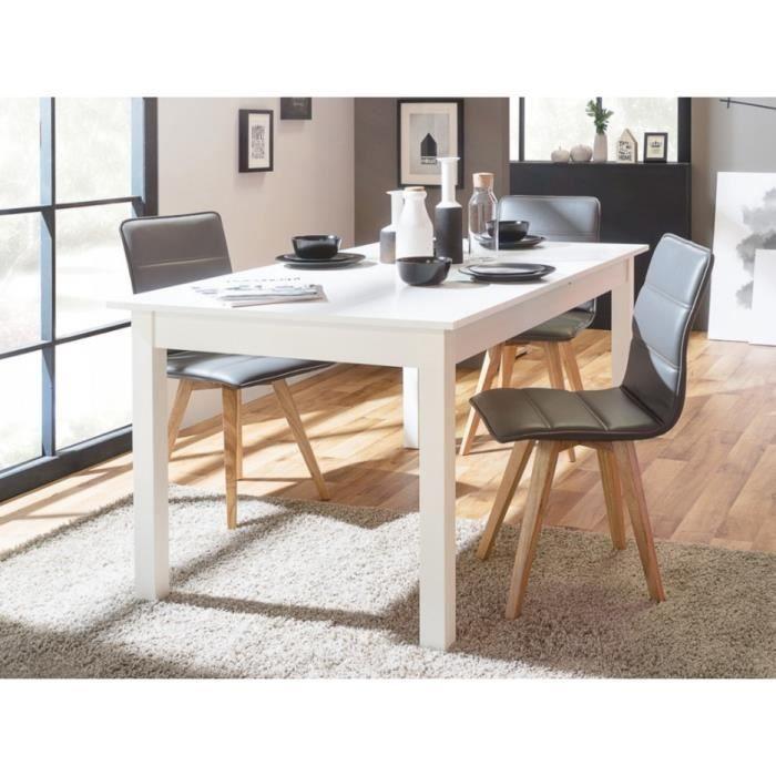 COBURG Table à manger extensible de 6 à 10 personnes classique blanc - L  160-200 x l 90 cm 1f4758e3ab3e