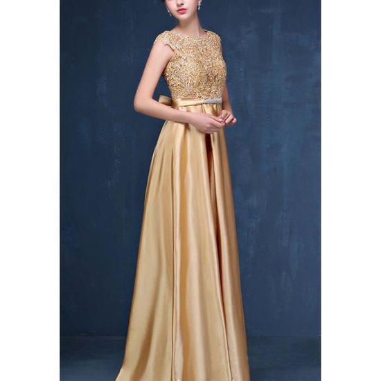 Lace Taille Long Evening Neck 3l4rd1 Dress Elegant Prom