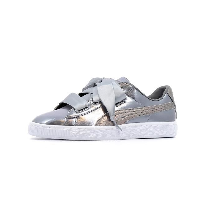 Baskets basses Puma Heart Lunar Lux Baby coloris Smoked Pearl