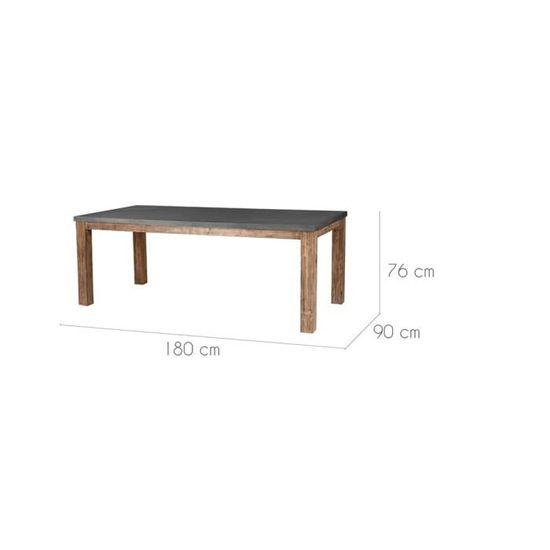 Table Stromboli 180 Cm Achat Rectangulaire Lavastone Vente j3A54LR