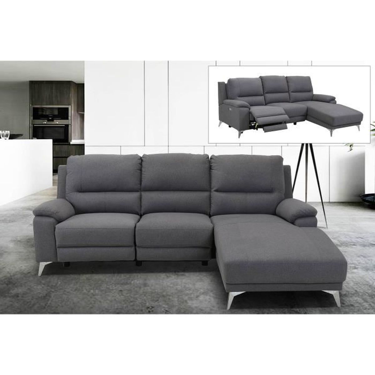 magasin en ligne 003bc 744b9 Canape angle tissus relax