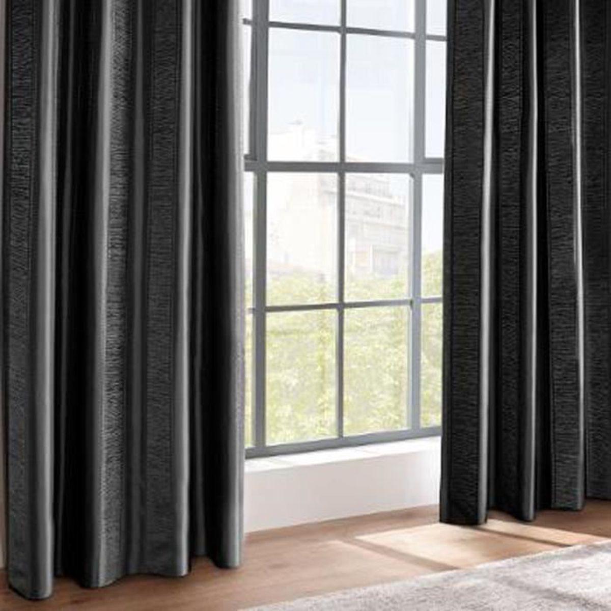 Tringle Pour Fenetre De Toit tringle à rideaux entre-murs 110à200 cm sans perçage noir