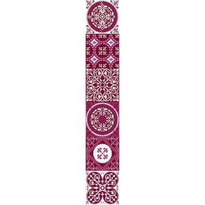 PLAGE Sticker déco carrelage - Carreaux de ciment rouge6 planches 15 x 15 cm
