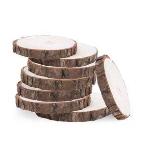 NAPPE DE TABLE 20pcs 8-10CM Rondelles de bûches en bois naturel D