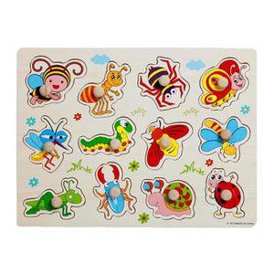 PUZZLE Bébés et enfants Puzzle de puzzle en bois Puzzle T