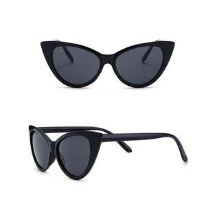 LUNETTES DE SOLEIL Mode Femmes CAT EYE Lunettes de soleil Noir ... 4ae90ffd43e0