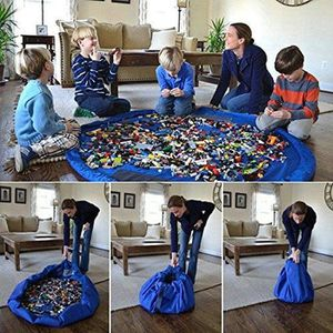 TAPIS ÉVEIL - AIRE BÉBÉ 150cm Kids Play Portable Mat Jouets sac de rangeme