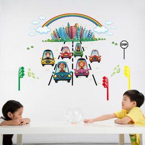 Animaux de dessin animé Voiture Chambre d\'enfant Salle de classe L ...