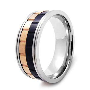 BAGUE - ANNEAU Bague anneau homme acier tournant