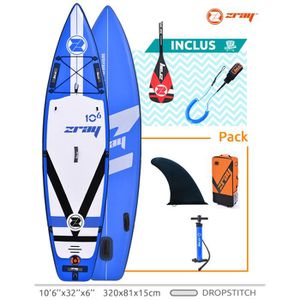 STAND UP PADDLE SUP gonflable stand up paddle Zray FURY PRO 10'6 -