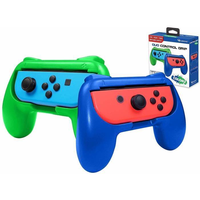 Subsonic - Grips manette pour Joy-Cons Nintendo Switch - Pack de 2 poignées de confort pour Joy Cons