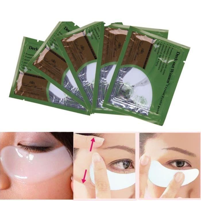 8 x paires masque yeux au collag ne anti cernes achat vente contour des yeux 8 x paires - Masque anti cerne maison ...