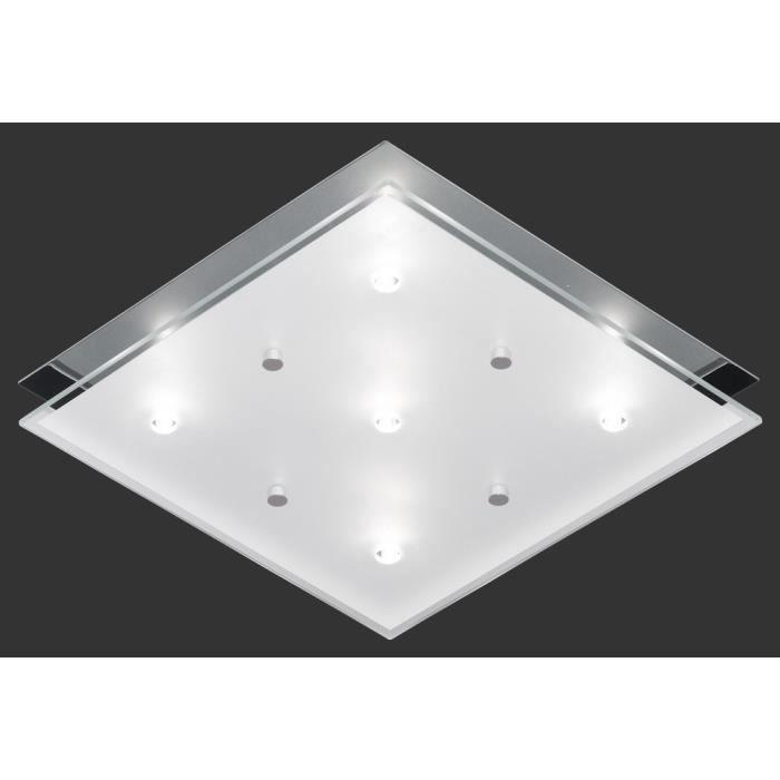 plafonnier carr 25 cm 5 ampoules en chrome achat. Black Bedroom Furniture Sets. Home Design Ideas