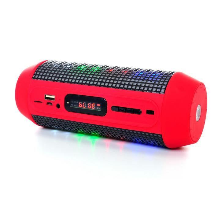 Pulse Poche Bluetooth Bass Subwoofer Avec Led Lourde Parleur Rouge De Lampe Horloge Haut Basse pMSzVqU