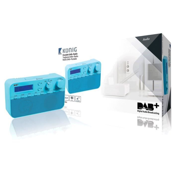 Radio Portable Dab Fm - Aux Bleu