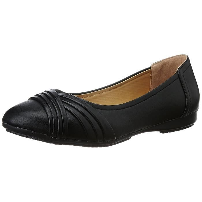 6751db9ec83b7 Bata ballerines ballerines plissées pour femmes JFKSG Taille-37 Noir ...