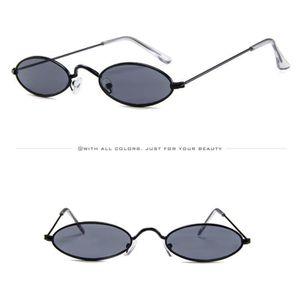 9fd2bfdeb6 LUNETTES DE SOLEIL Mode Hommes Femmes Retro Lunettes de soleil ovales