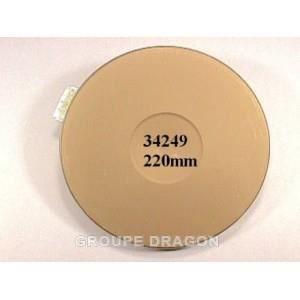 PIÈCE APPAREIL CUISSON Plaque electrique dim 220 m/m 2000 w pour table de