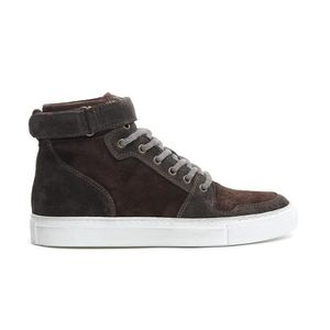 ELEVENTY HOMME 979SR0041SCA200092 MARRON CUIR BASKETS MONTANTES GY6WH2QA