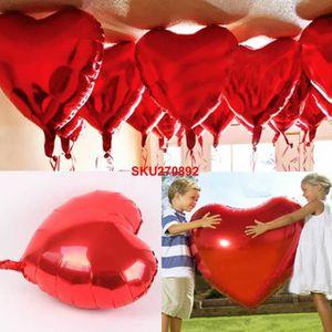 BALLON DÉCORATIF  10x Ballon Coeur Gonflable Aluminium Mariage Fête