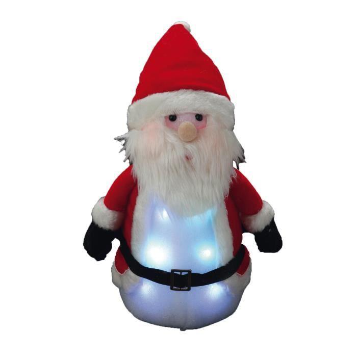 Personnage de Noël Père Noël lumineux rouge 33x16cm