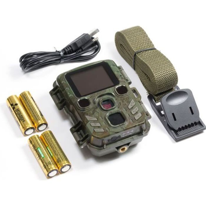 TECHNAXX Mini Nature Wild Cam TX-117 Caméra de surveillance - Intérieur et extérieur - Alimentation par piles - Vert camouflage