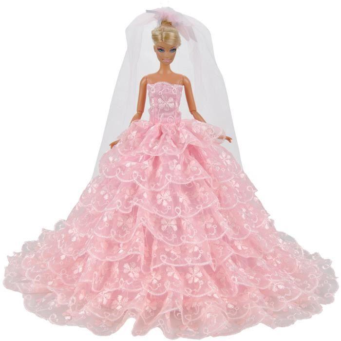 E ting rose magnifique robe de mari e princesse robe de - Barbie en princesse ...