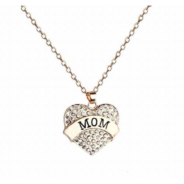 Le cœur des femmes pour maman dor collier pendentif RHYLT