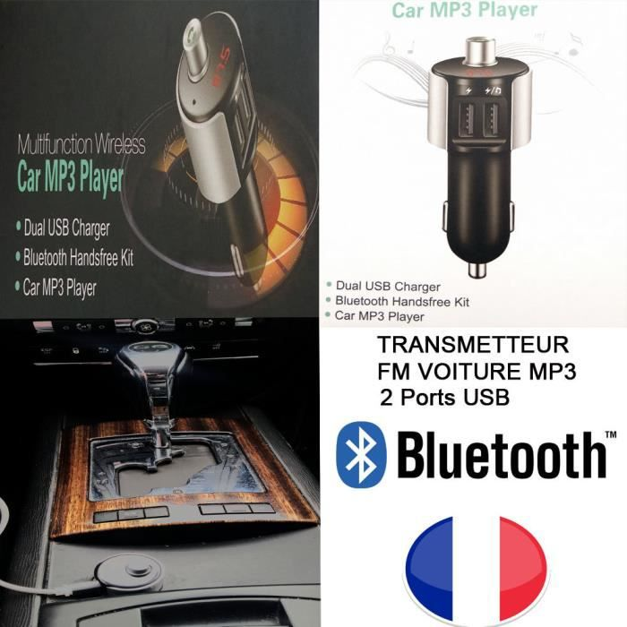 Transmetteur FM-MP3 BLUETOOTH  Voiture- pour ASUS ZenFone 3 Ultra (ZU680KL)   - JOLLINI® Universel Protection