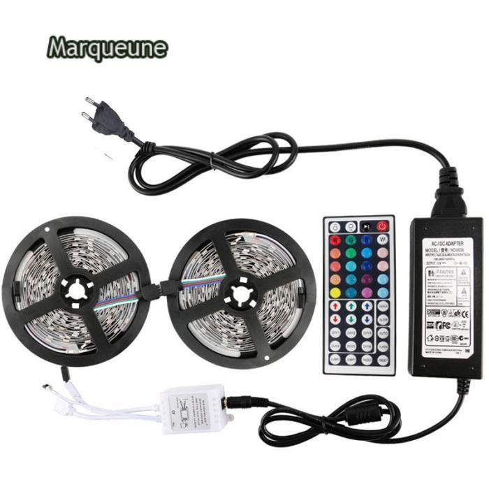 ws2812b Bandes de LED lumière de individuellement adressierbares  programmierbares Marqueune(10 M,étanche IP65)blanc