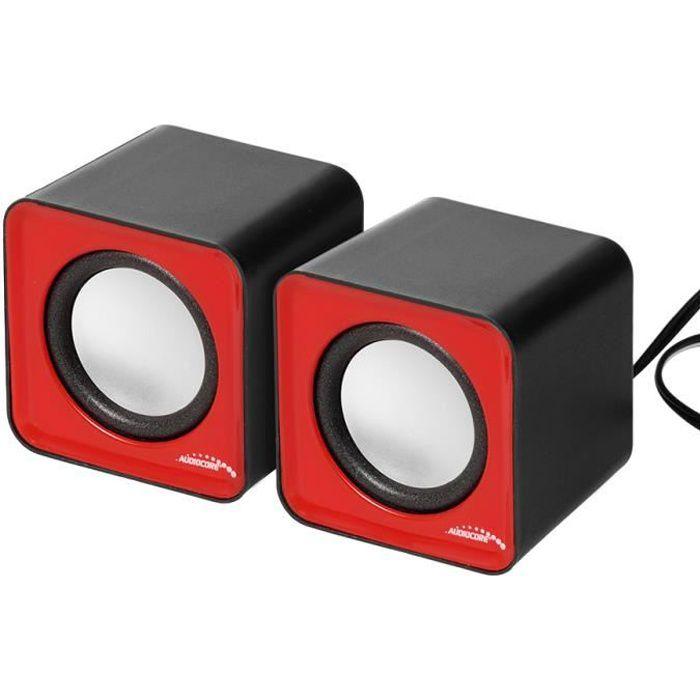 HAUT-PARLEUR - MICRO Haut-parleurs d'ordinateur Audiocore AC870R 6W USB