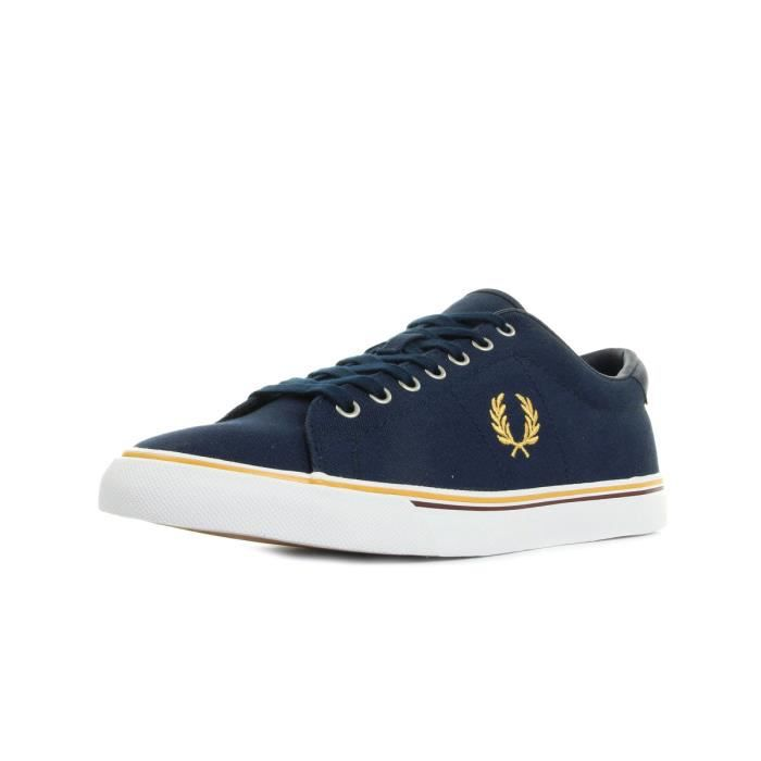 Baskets Fred Perry Underspin Canvas Carbon Blue Yellow
