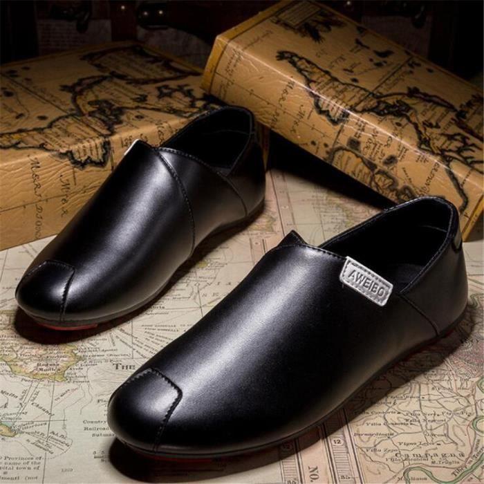 Moccasins De cuir Marque Chaussures Grande 2017 Luxe Classique De Confortable arrivee homme Taille Nouvelle Confortable wHfHxnUZF
