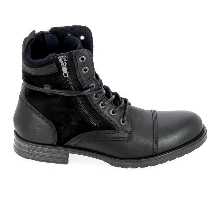 Sneakers De Achat 4899501 Ville Noir Mustang Chaussure vd1twqt