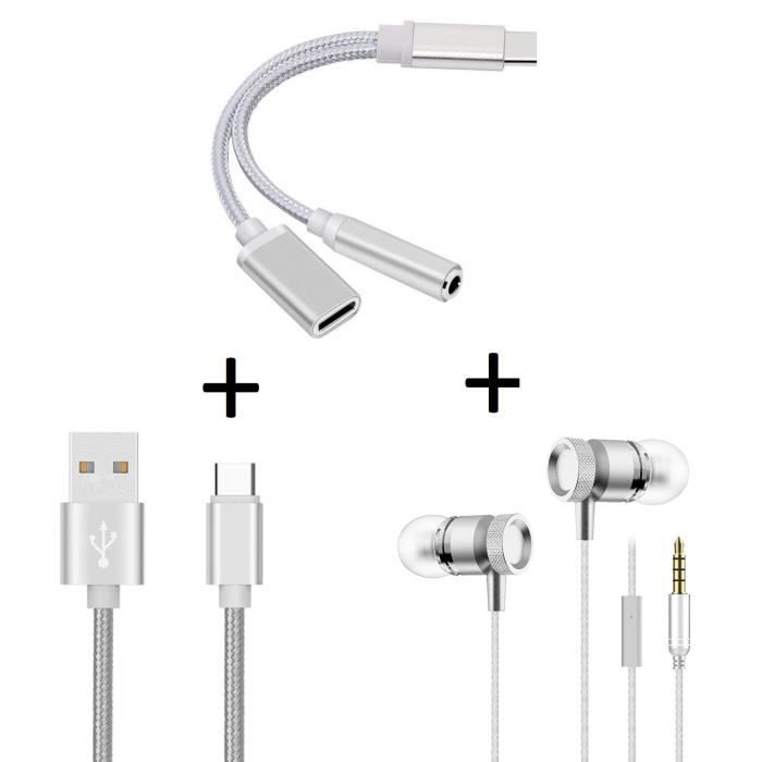 Oem - Pack Pour Samsung Galaxy S9 (adaptateur Type C/jack Cable Chargeur Metal C Ecouteurs Meta