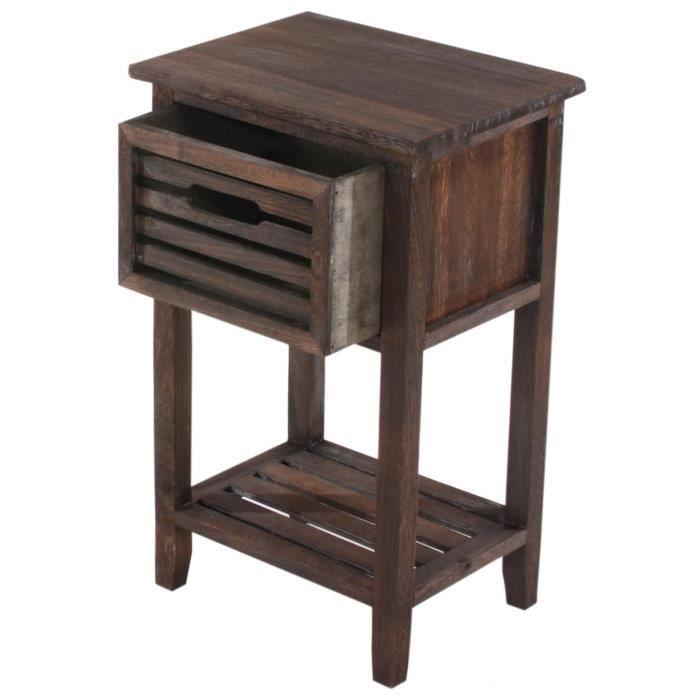 dresser table de chevet vintage coloris brun achat. Black Bedroom Furniture Sets. Home Design Ideas