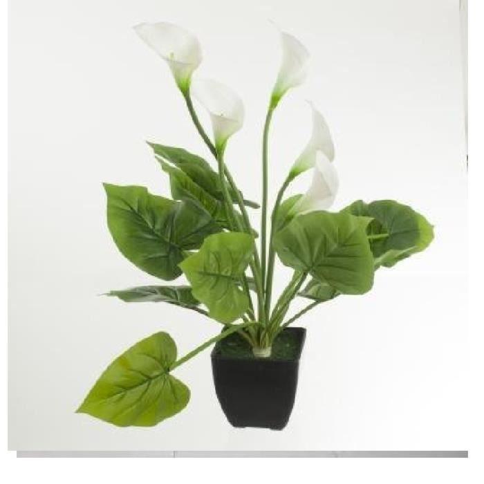 arome x5 12 feuille pot h60cm achat vente fleur artificielle cdiscount. Black Bedroom Furniture Sets. Home Design Ideas