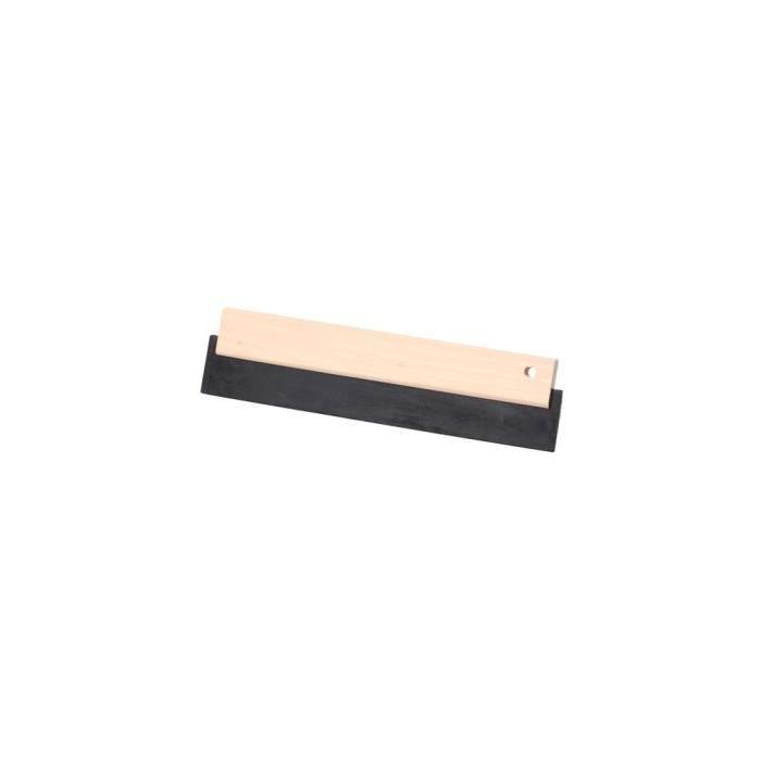 Raclette caoutchouc noir 180 x 75 mm avec monture bois - 11200159