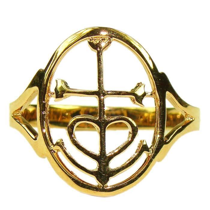 Souvenirs de France - Bague Croix de Camargue - 61 - Taille Or Plein 18-cts 2a6d9dc49d7