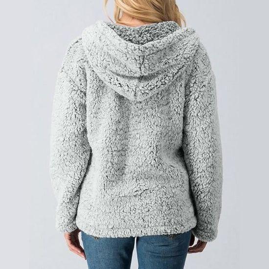 De Les Manteau Casual Zipper Pardessus Chaud Femmes Couverture Poil Veste Pageare8535 D'hiver Solide Outwear qwgfqF