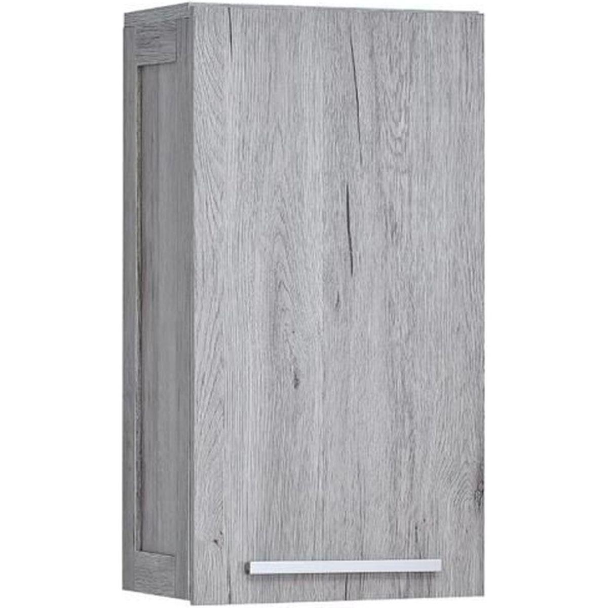 Meuble salle de bain bois gris - Achat / Vente pas cher