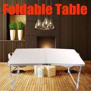 TABLE DE CAMPING Table Pliante Portable Blanc En Aluminium Extérieu