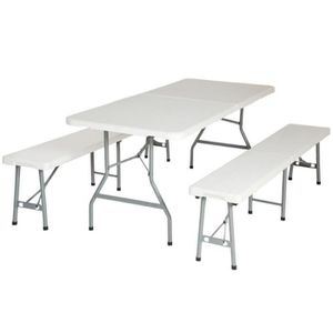 table camping pliante avec banc - achat / vente table camping