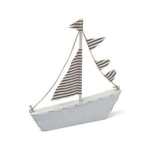 Décors de table Décoration bateau en bois taupe Marin 18 x 20 cm