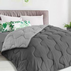 COUETTE Couette bicolore gris foncé et gris 220 x 240 CM 3