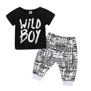 T-SHIRT Vêtements de bébé garçons Set manches courtes T-Sh